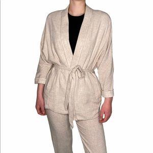 Frank & Oak Linen Blend Kimono Jacket